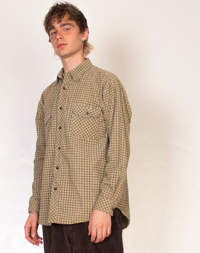 CORD CHECK FLANNEL SHIRT