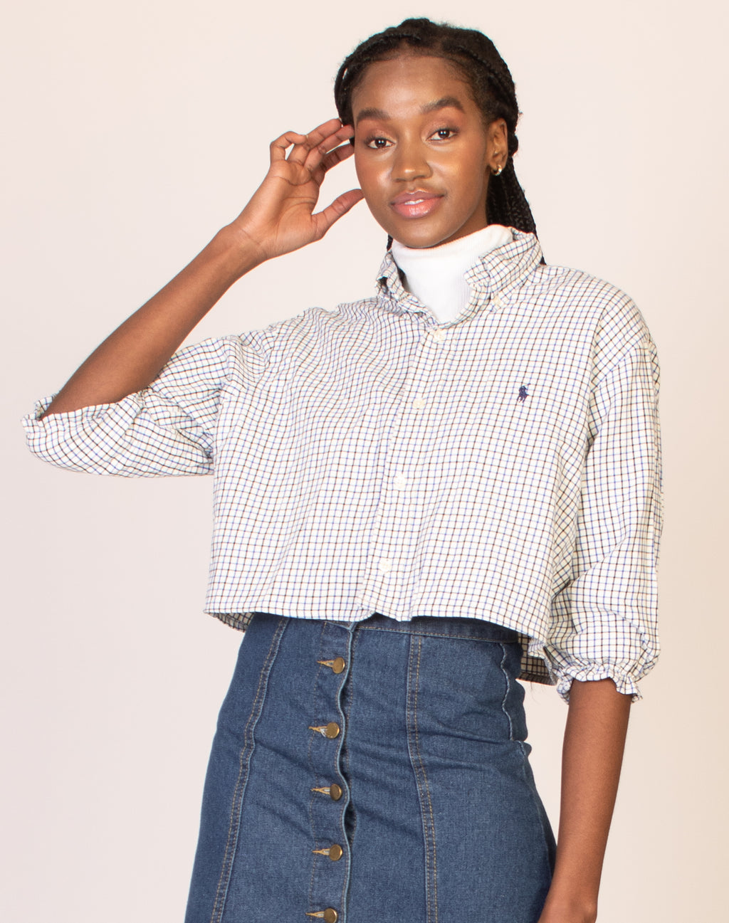 RALPH BLUE CHECKERED SHIRT