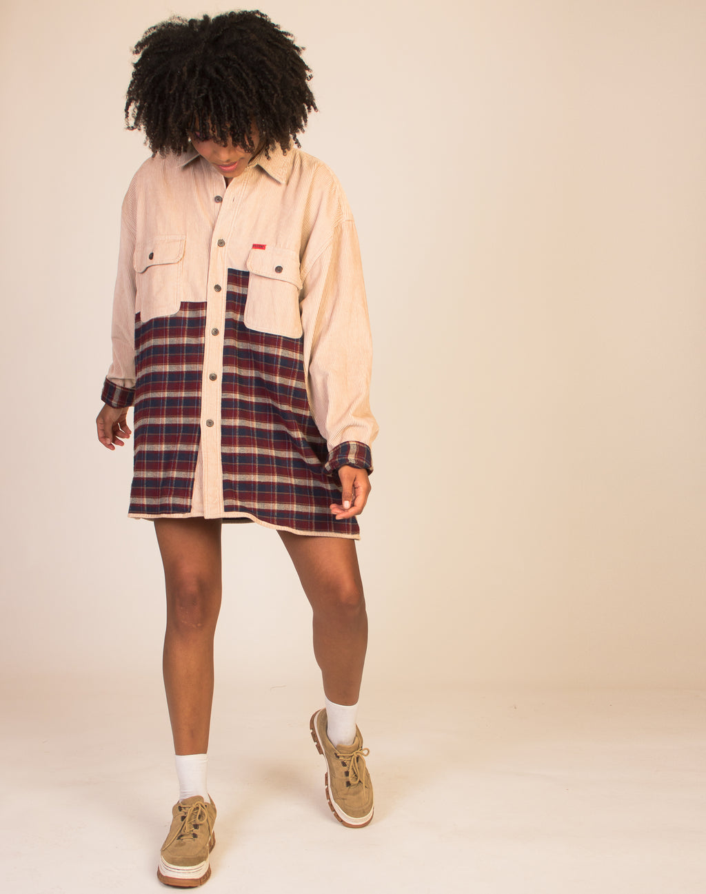 CORD AND FLANNEL OVERSIZED LUMBERJACK SHIRT