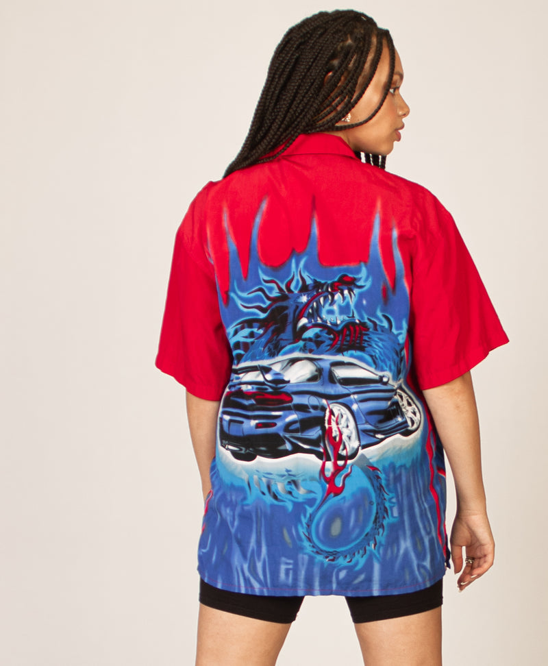 MOTORCAR FLAMED SHIRT