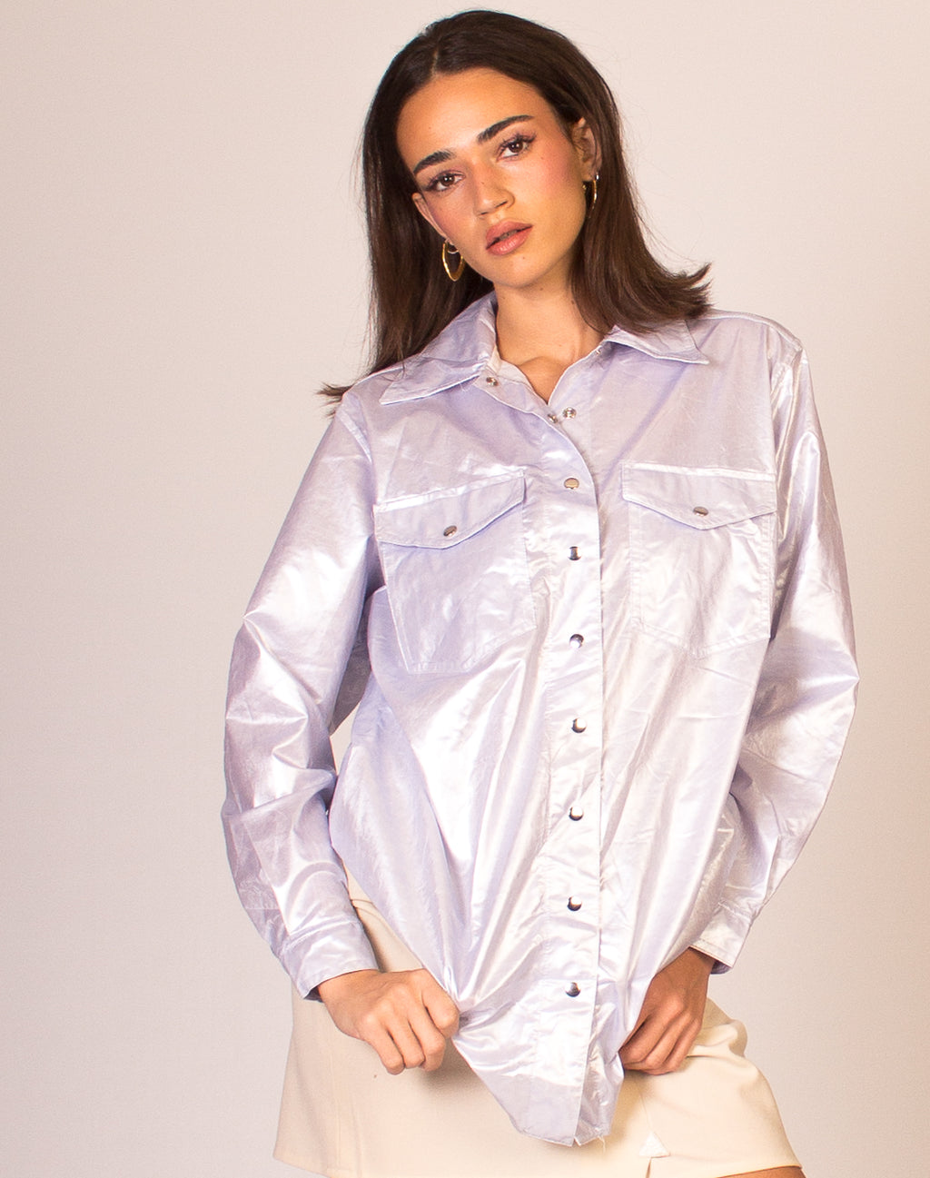 PERIWINKLE COATED SHIRT