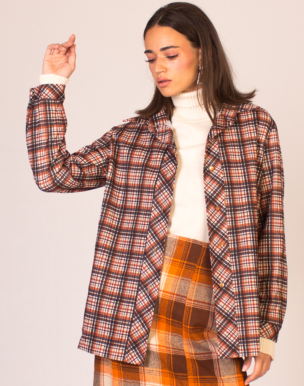 RUST PLAID SHIRT