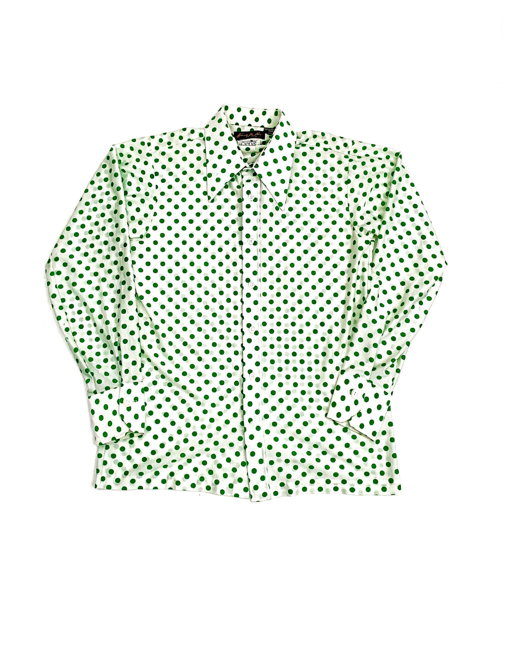 70'S DAGGERED POLKA DOT SHIRT