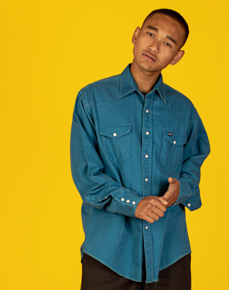 WRANGLER BLUE DENIM SHIRT