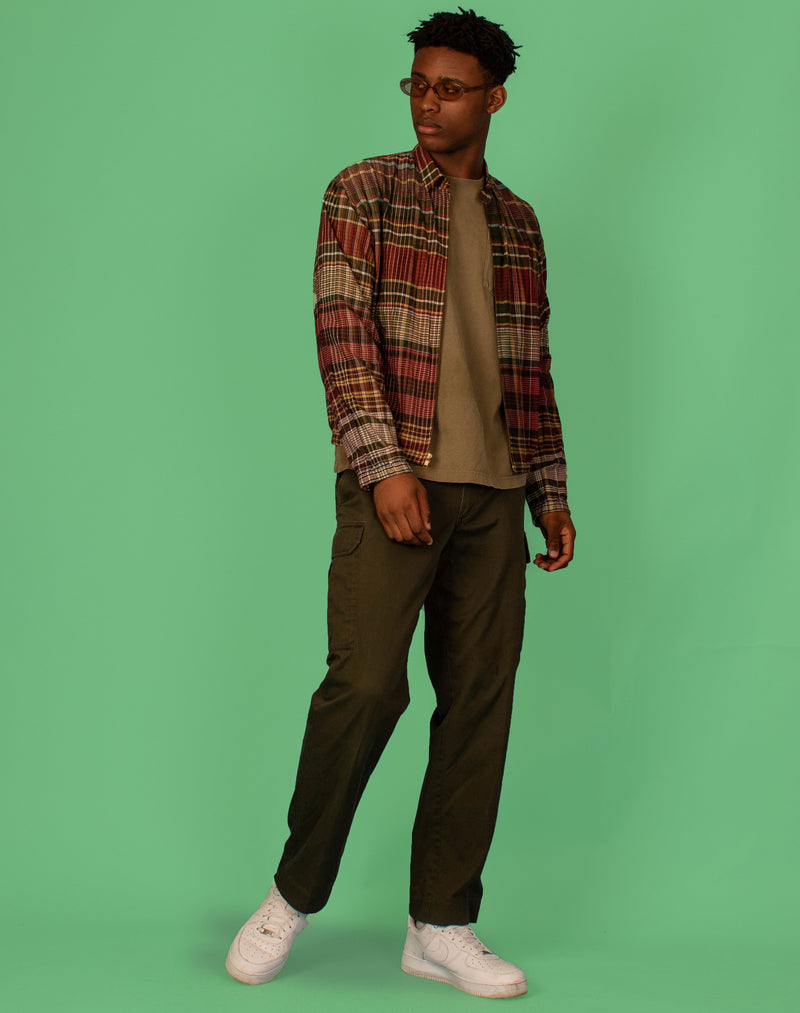 GREEN FLANNEL SHIRT