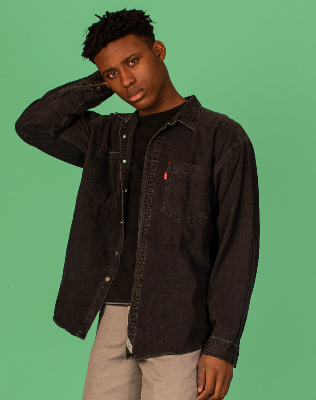 LEVI'S DENIM CHARCOAL SHIRT