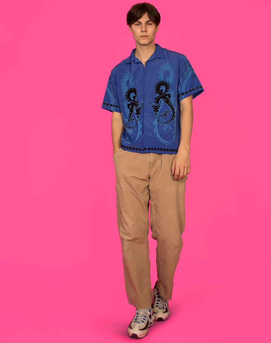 BLUE DRAGON PRINT SHIRT