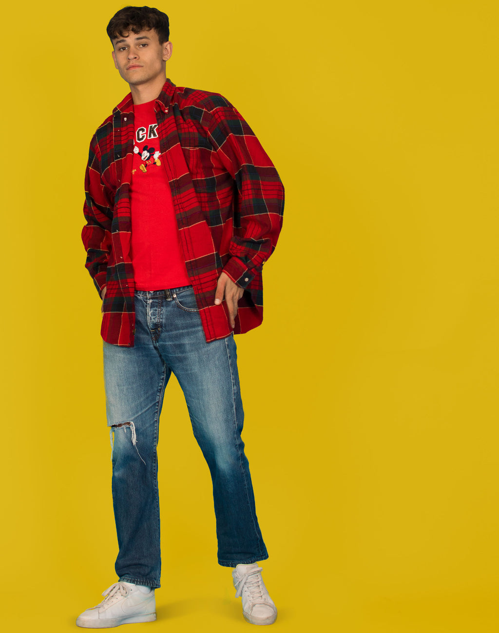 SOFT RED FLANNEL SHIRT