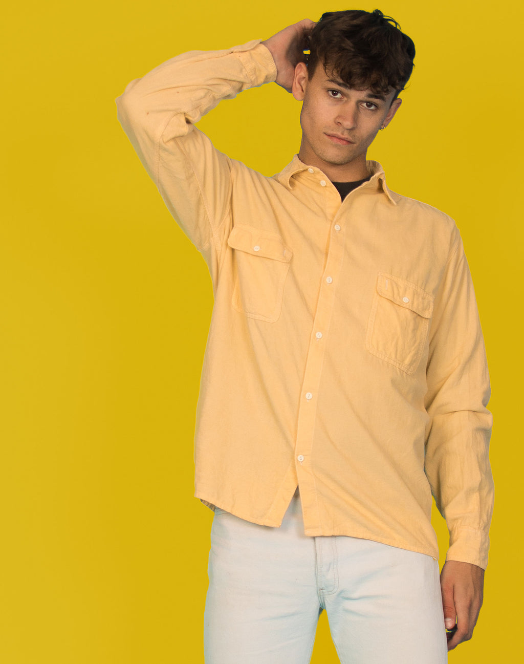 PALE YELLOW CORD SHIRT