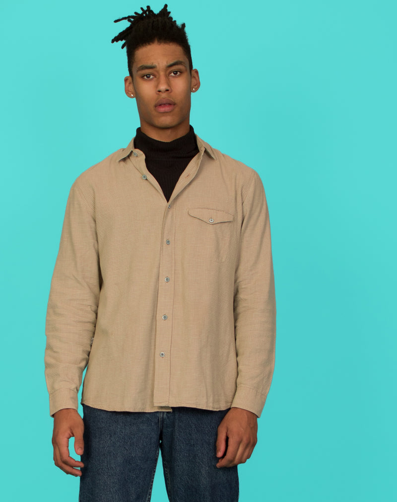 LEVI'S CAMEL CHECK SHIRT