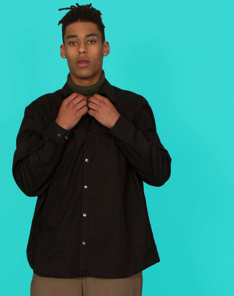 CALVIN KLEIN BLACK LONG SLEEVE SHIRT