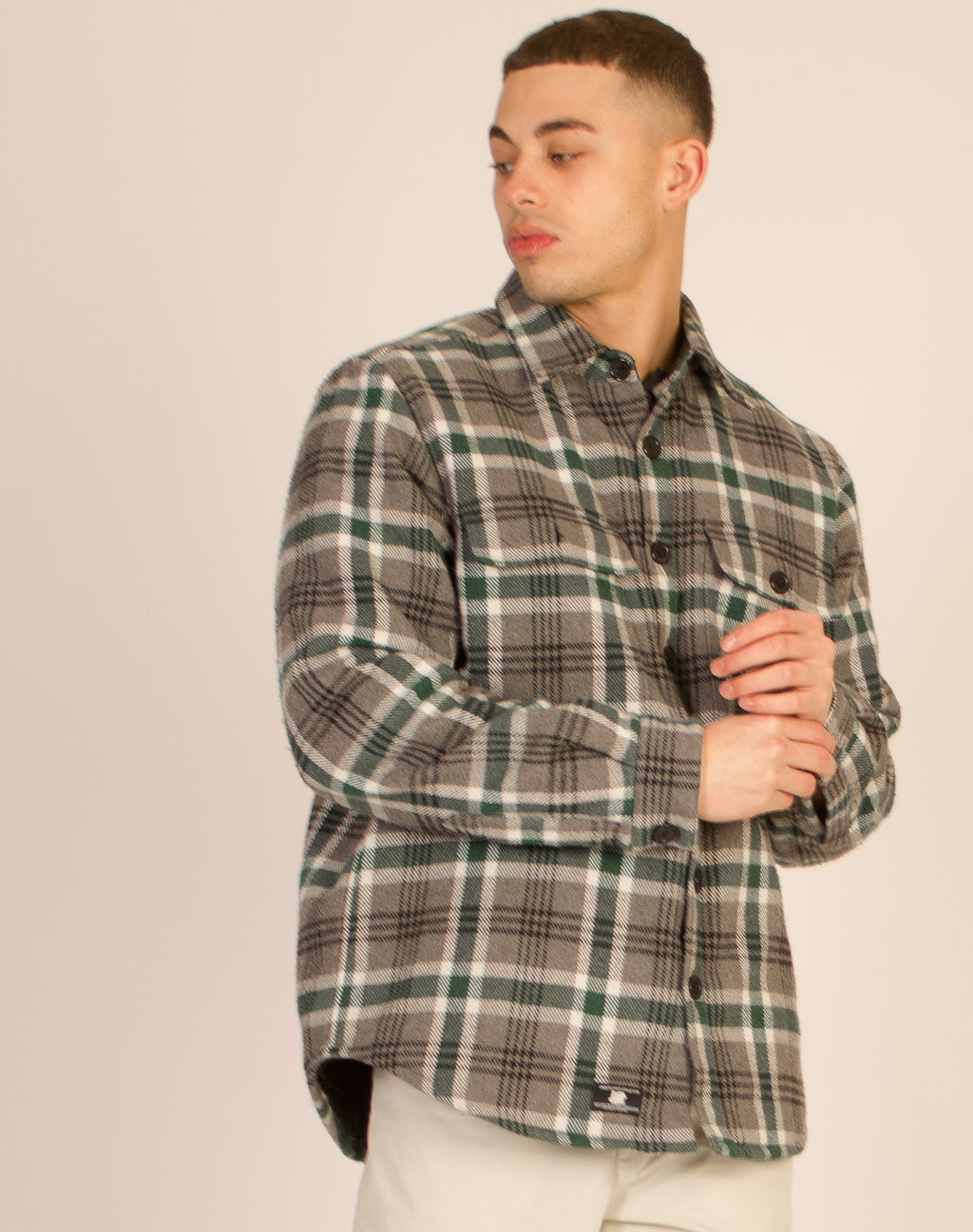GREEN CHECKERED SHACKET
