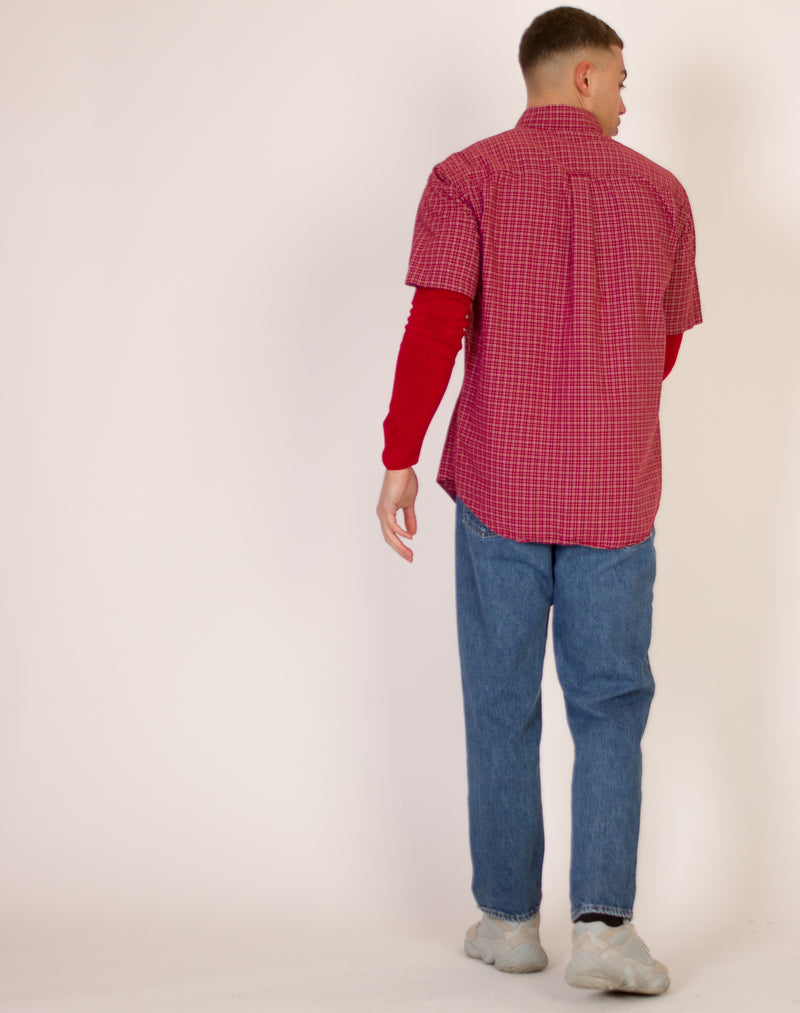 NAUTICA RED CHECKERED SHIRT