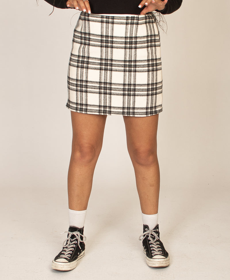OFF WHITE CHECK SKIRT