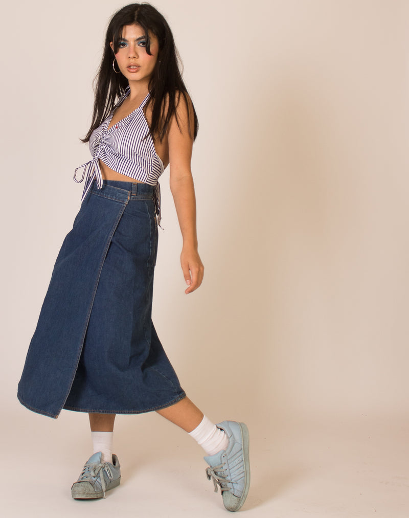 LEVI'S DENIM WRAP AROUND SKIRT