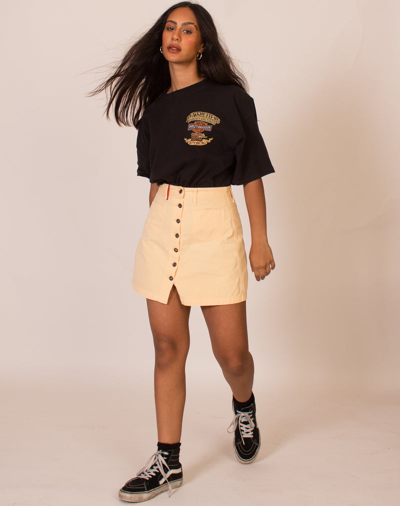 OTTO KERN PEACH MINI SKIRT