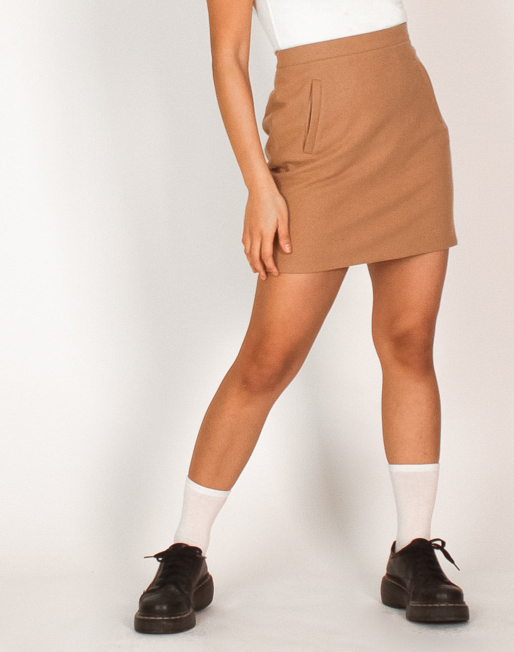 CAMEL MINI SKIRT