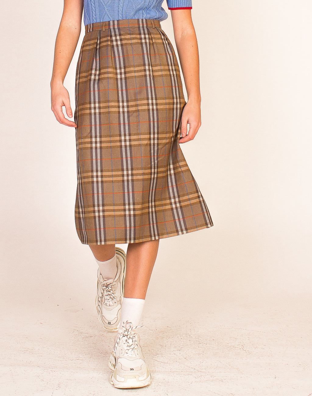 BURBERRY CHECK PENCIL SKIRT
