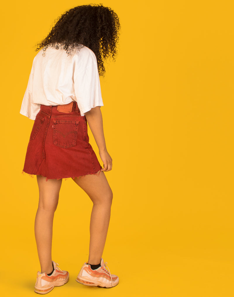 LEVI'S RED DENIM SKIRT