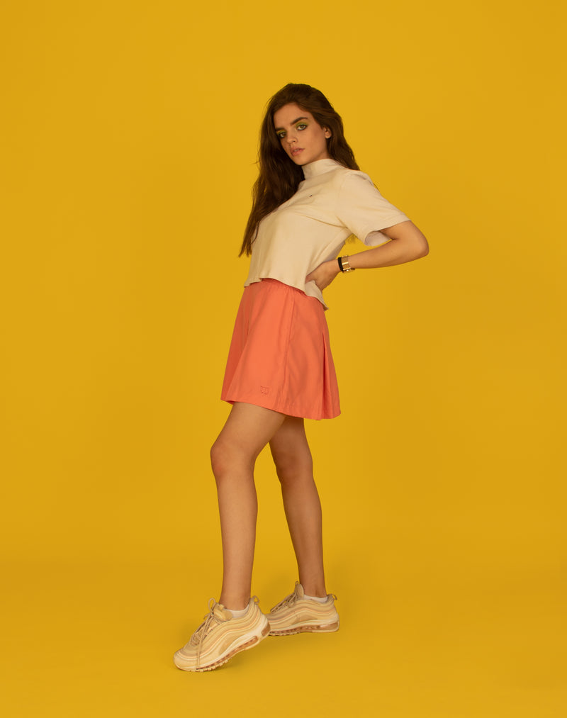 PEACH TENNIS SKIRT