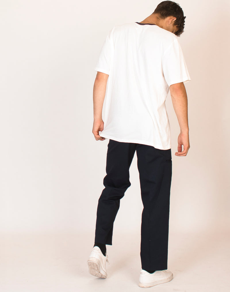 CHAPS OFF WHITE RINGER TEE