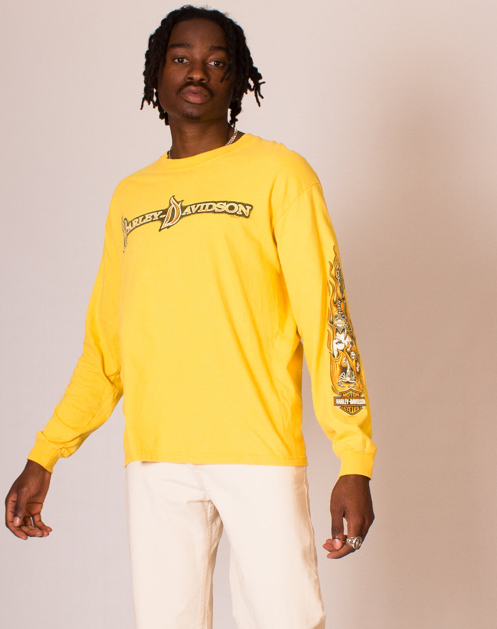 HARLEY DAVIDSON YELLOW LONG SLEEVE TEE