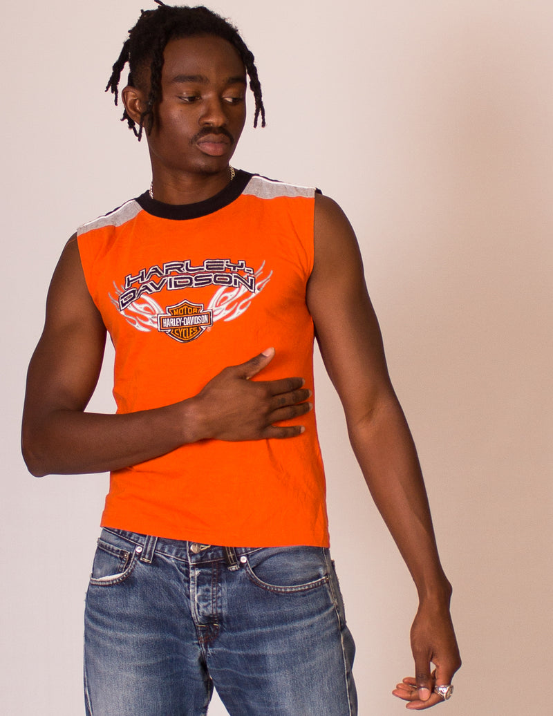 HARLEY DAVIDSON ORANGE TANK TOP