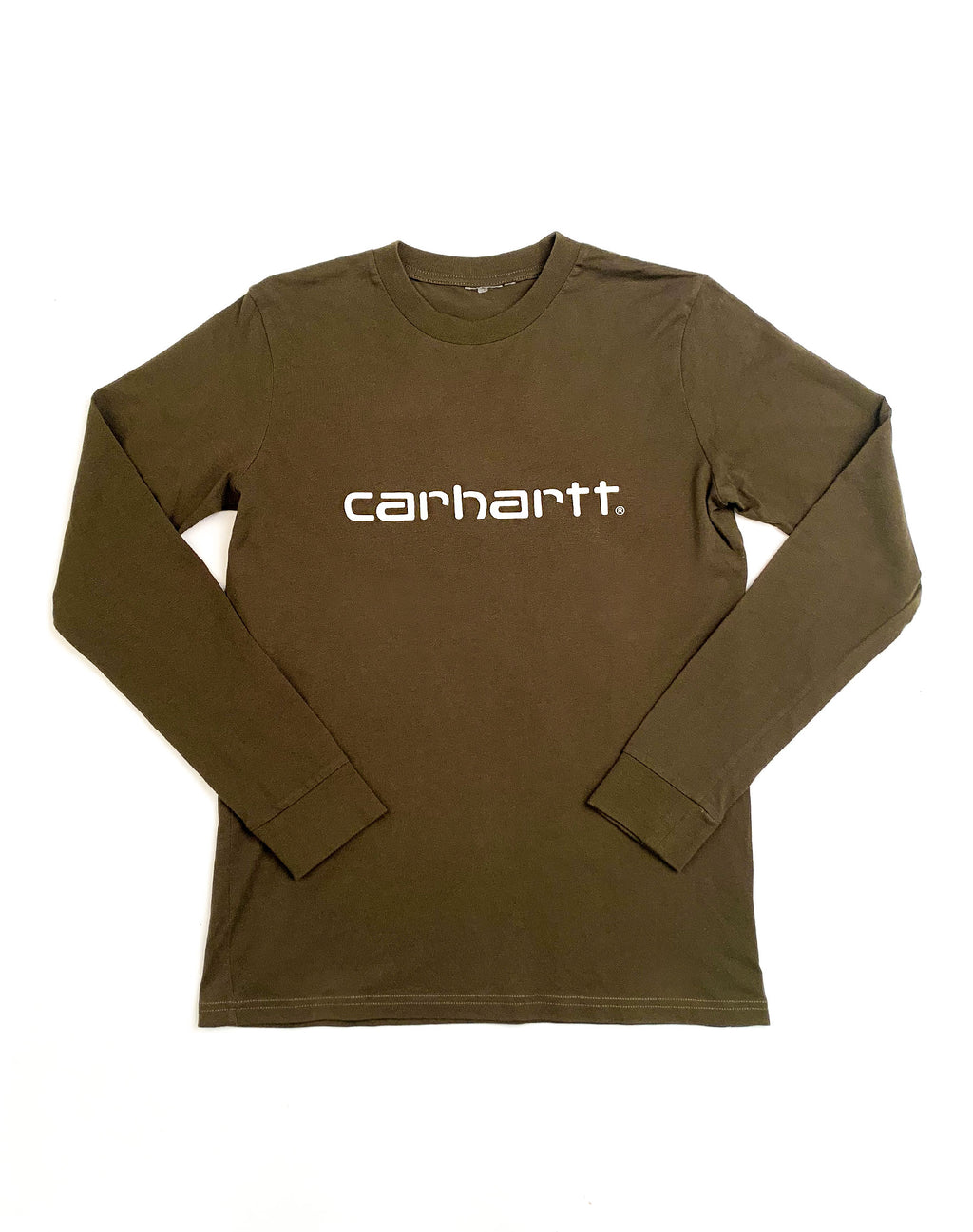CARHARTT KHAKI LONG SLEEVE T-SHIRT