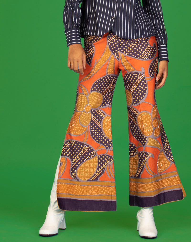 ABSTRACT WIDE LEG TROUSERS