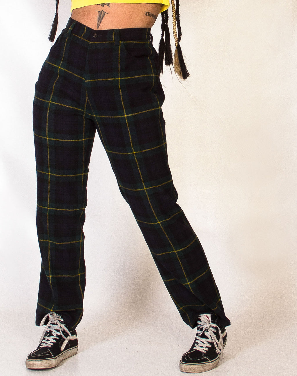 RALPH LAUREN GREEN TARTAN TROUSERS