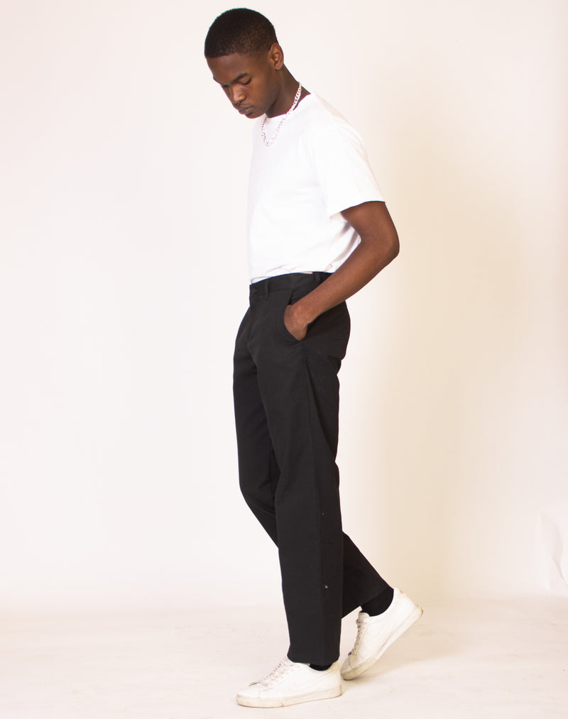 DICKIES BLACK STRAIGHT LEG TROUSERS