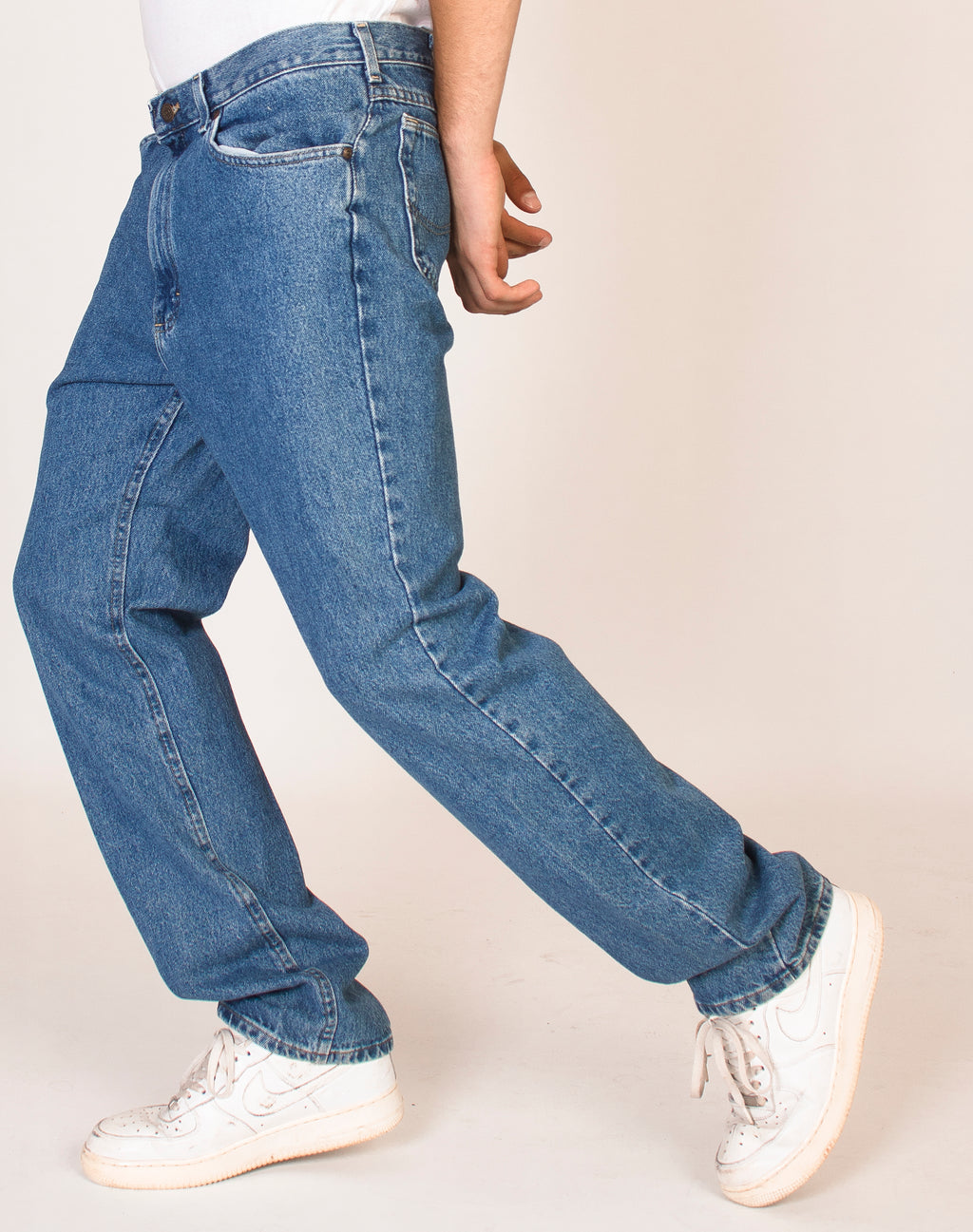 LEE MID WASH DENIM JEANS