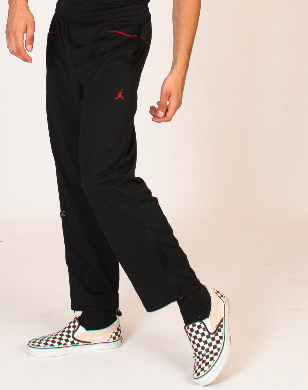 NIKE JUMP BLACK AND RED JOGGERS