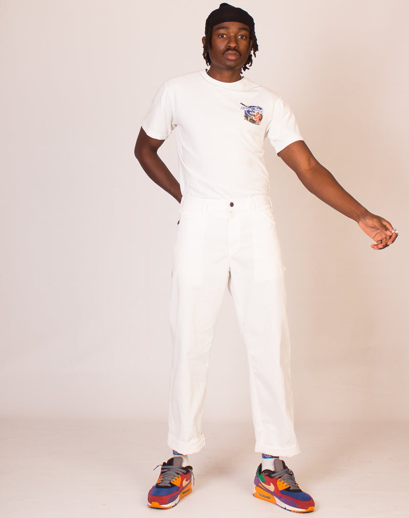 DICKIES WHITE CARPENTER TROUSERS