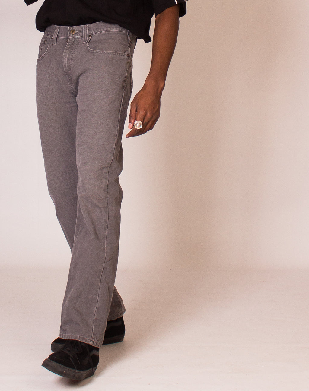 CARHARTT GREY RELAXED JEANS