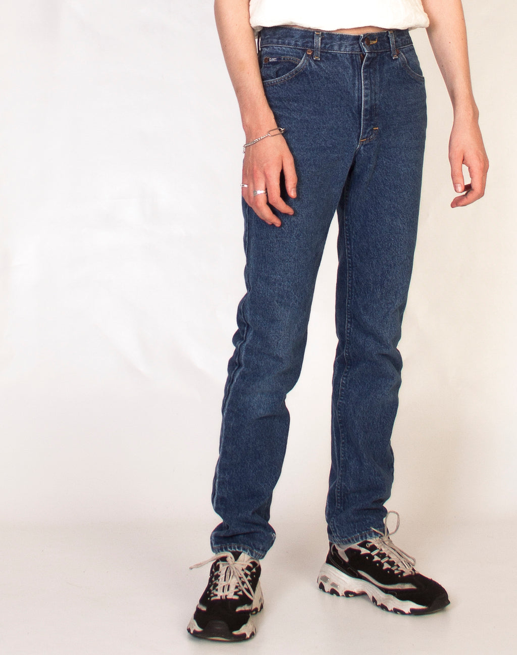 LEE MID WASH JEANS