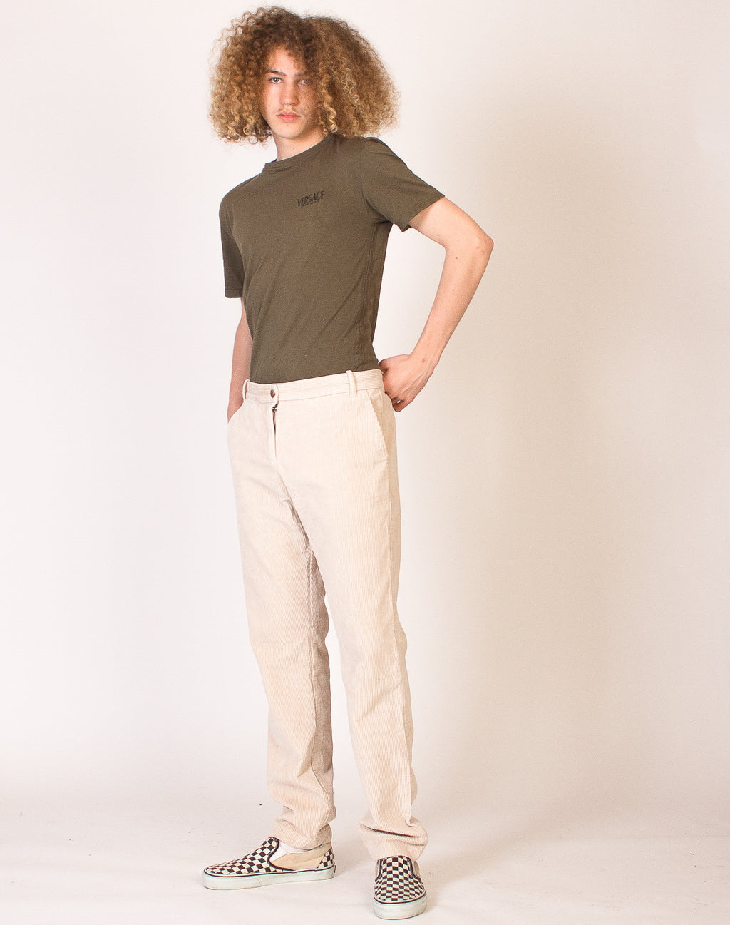 GAP CREAM CORDUROY TROUSERS
