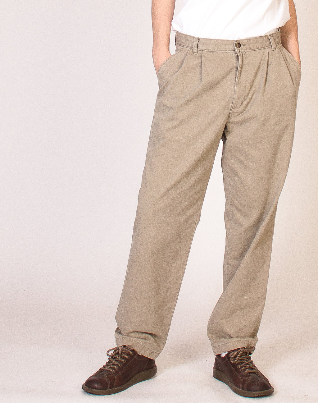 DOCKERS BEIGE STRAIGHT LEG TROUSERS