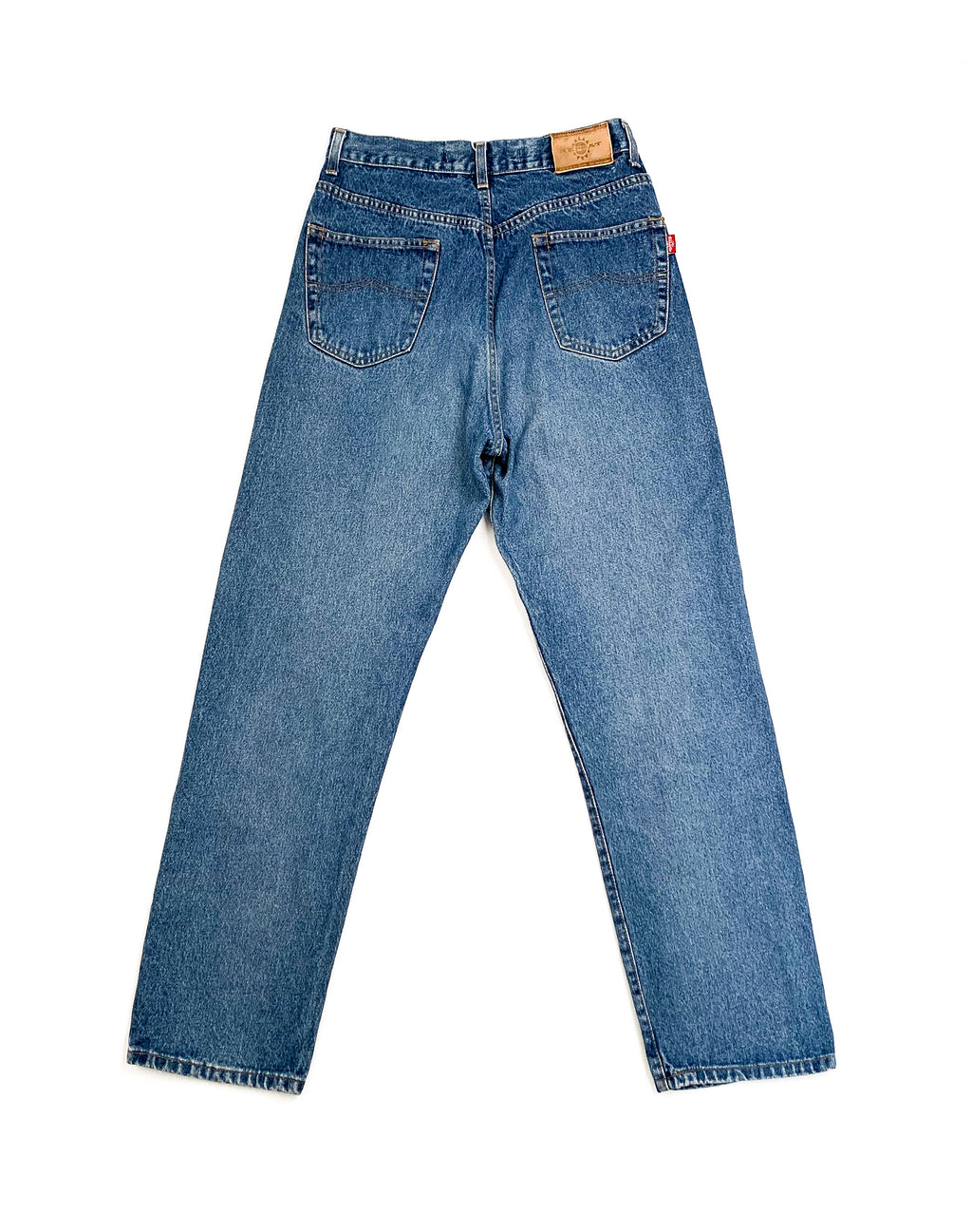 MID WASH BLUE DENIM JEANS