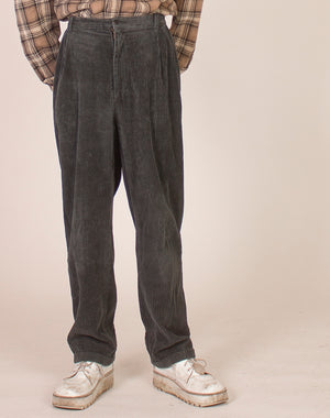 GAP GREY JUMBO CORD TROUSERS