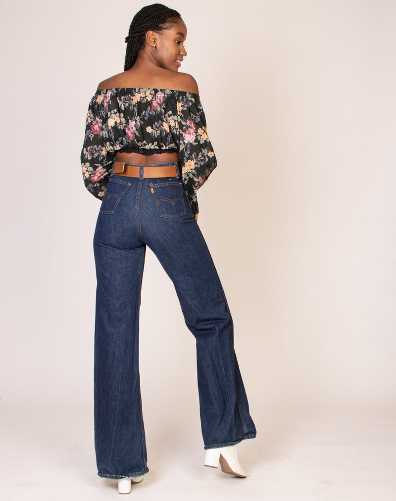 LEVI HIGH WAISTED FLARED JEANS