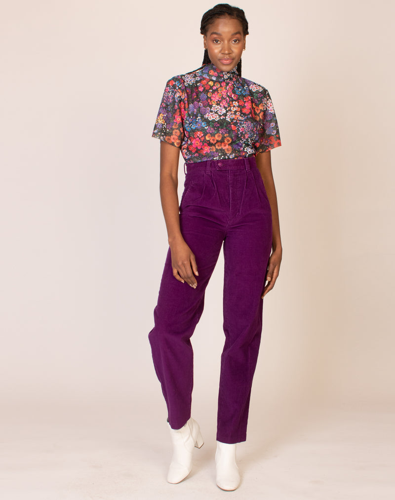 PURPLE HIGH WAIST JEANS