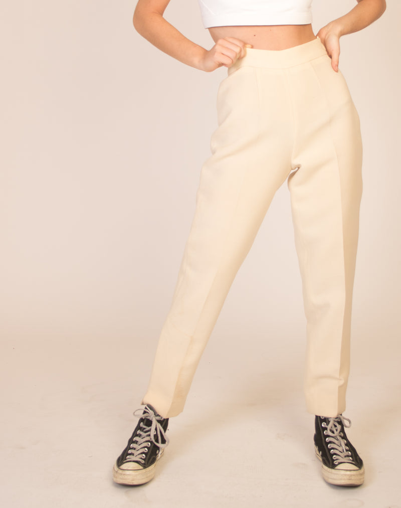 MOSCHINO CREPE PLEATED TROUSERS