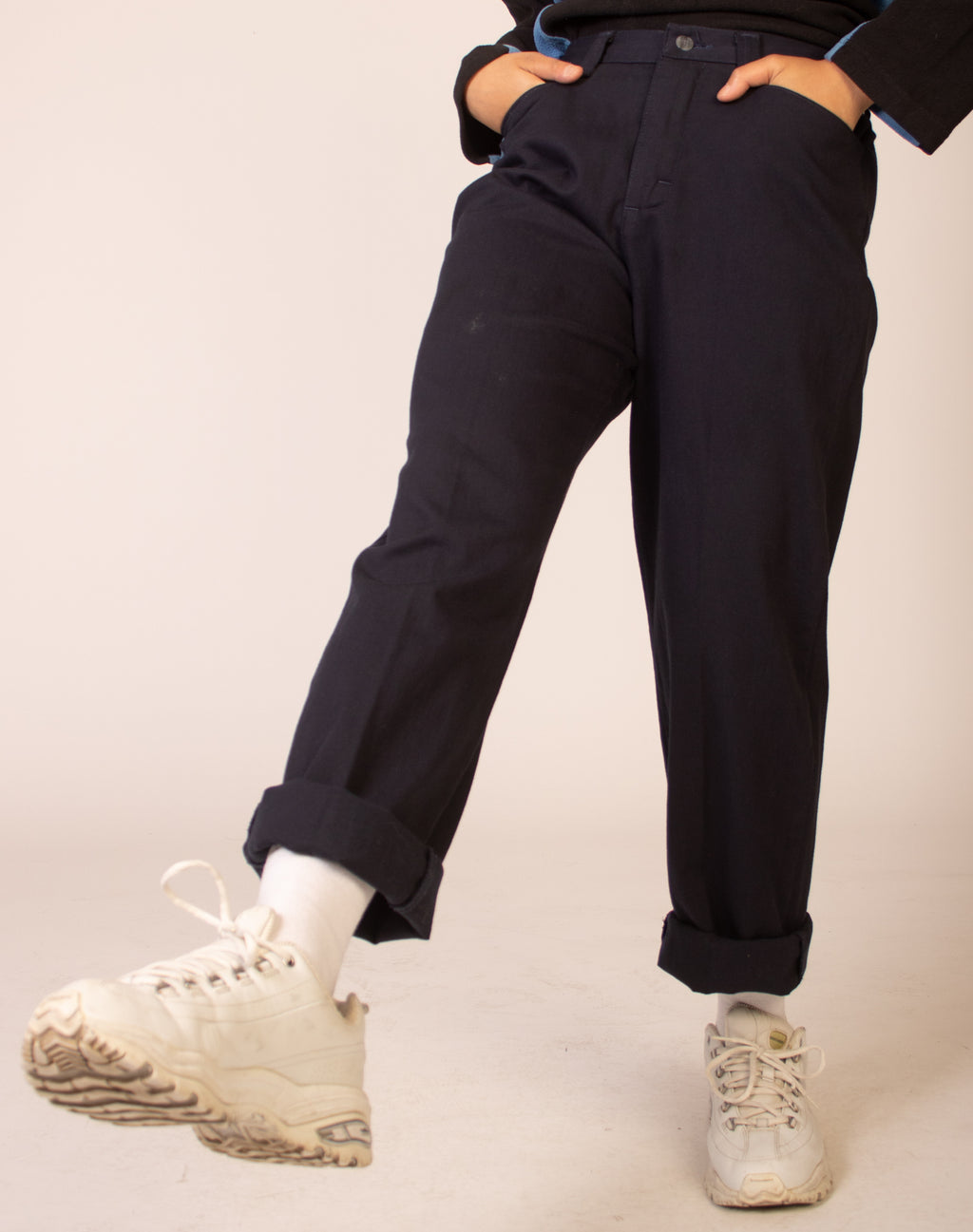 LEE NAVY BLUE TROUSERS