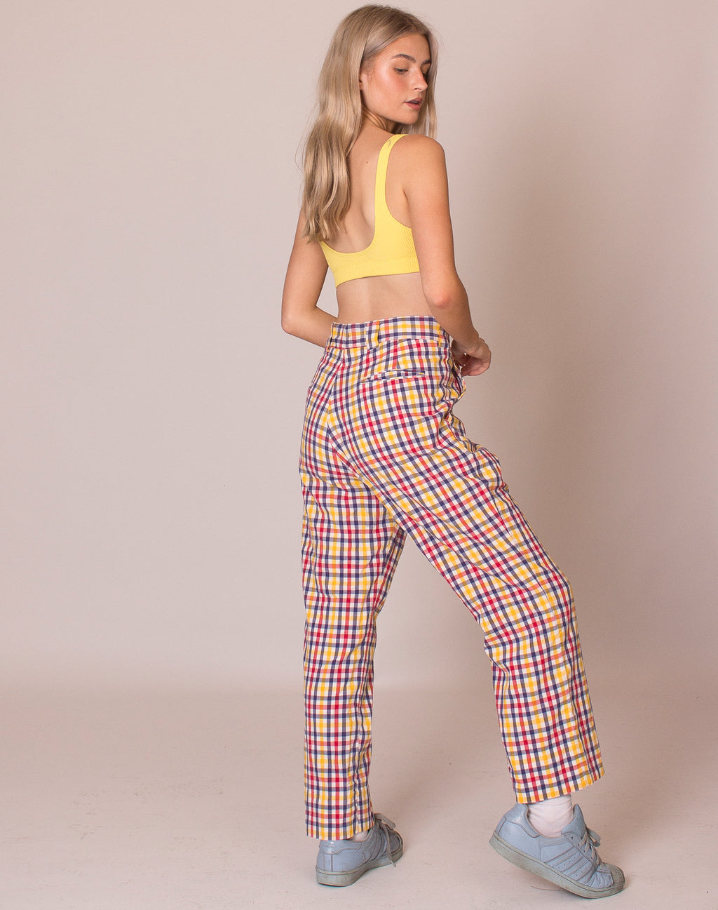 PRIMARY COLOUR CHECK TROUSERS