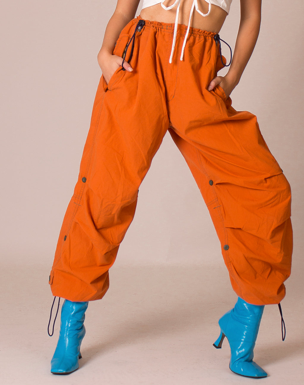 MAHARISHI ORANGE COMBAT TROUSERS