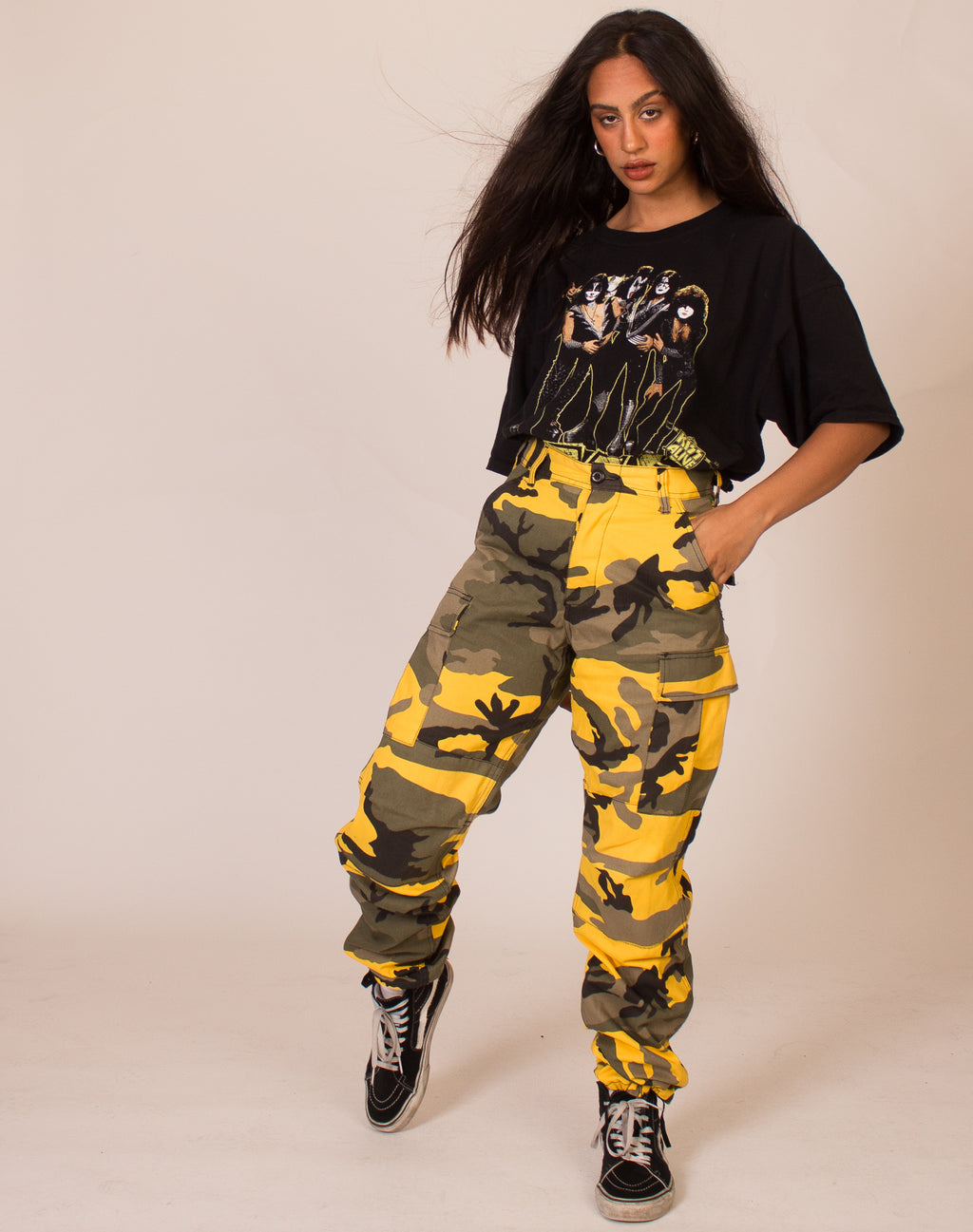 YELLOW CAMO TROUSERS