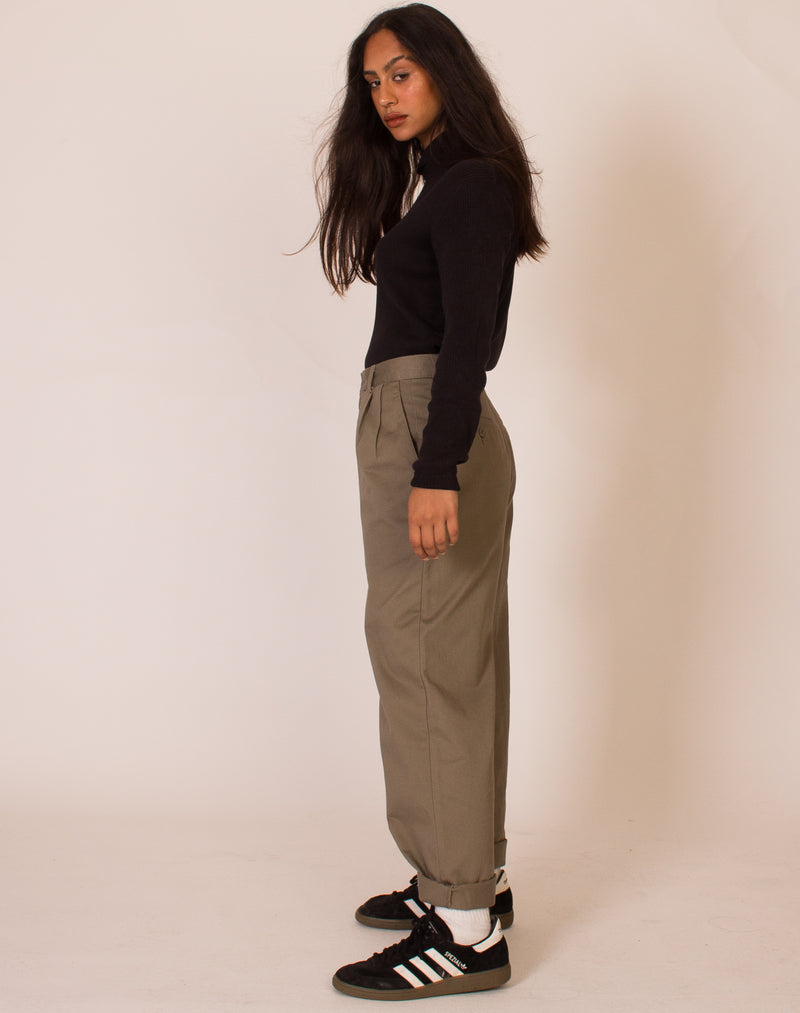 DOCKERS KHAKI STRAIGHT LEG TROUSERS