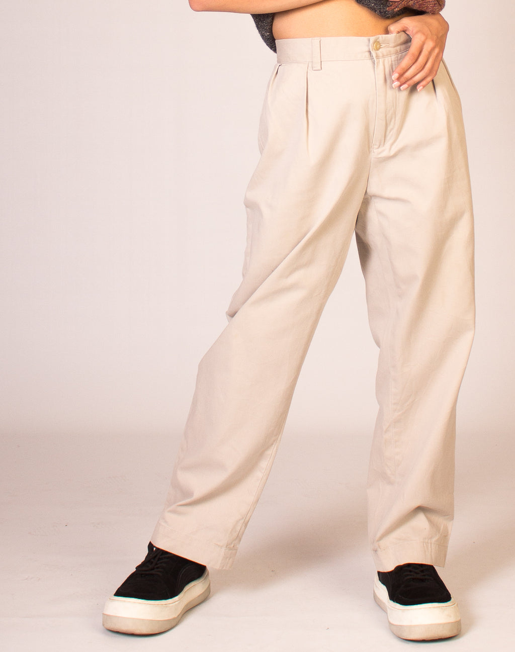 RALPH LAUREN STRAIGHT LEG BEIGE TROUSERS
