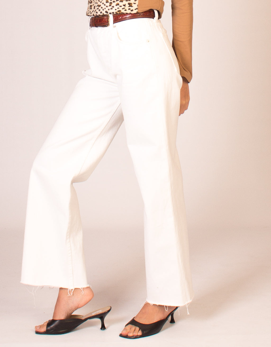 REFORMATION WHITE JEANS